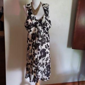 SLFashions blk/white dress. Size 16